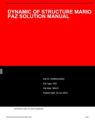 dynamic of structure mario paz solution manual by reddit49 issuu rh issuu com  Beverly Hills Dr Paz