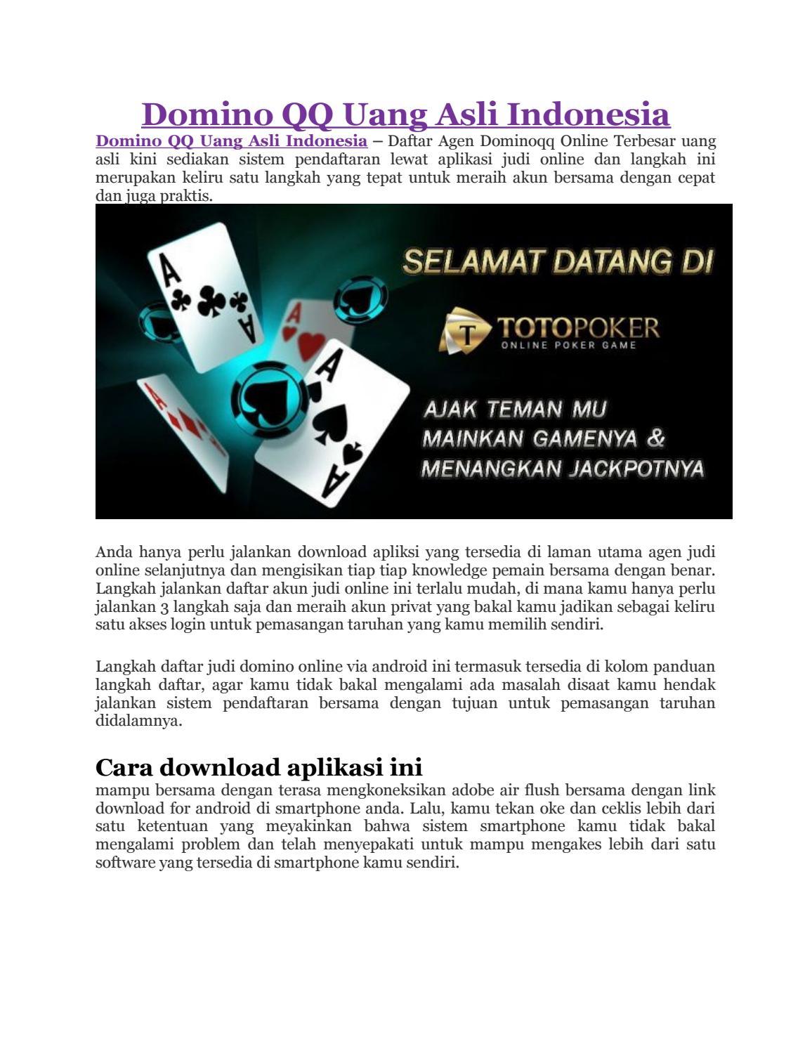 Domino Qq Uang Asli Indonesia By Jennifer Angel Issuu