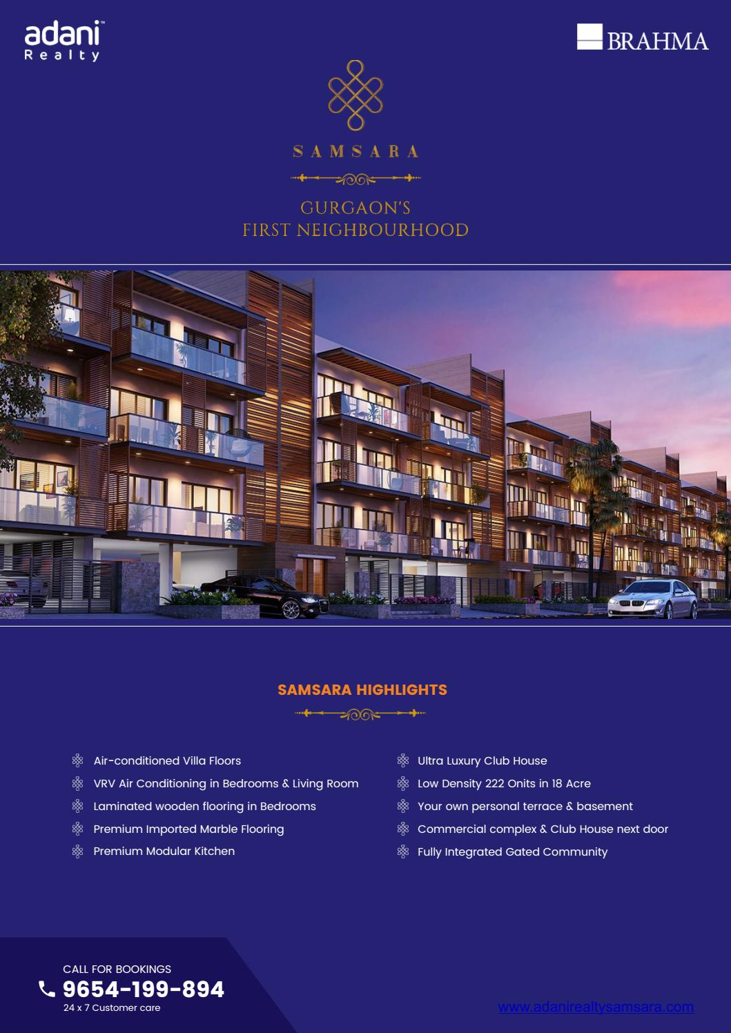 Adani Samsara Brochure Layouts Floor Plans Location Features By Property Issuu