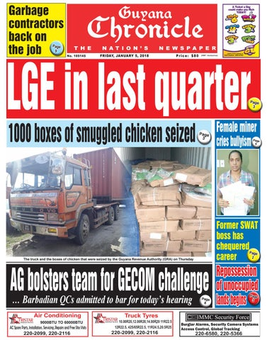 dd15ebde347c3 Guyana chronicle e paper 01 05 2018 by Guyana Chronicle E-Paper - issuu