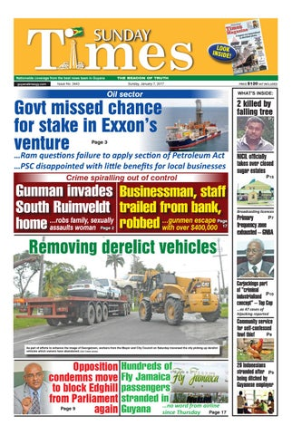 Guyanatimes 7 january 2018 by Gytimes - issuu