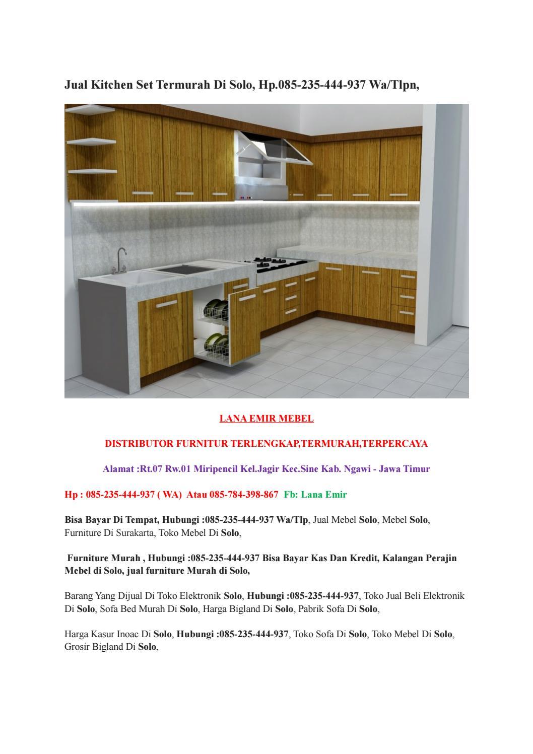 Jual Kitchen Set Termurah Di Solo Hp 085 235 444 937 Wa Tlpn By Mandiriputra Issuu