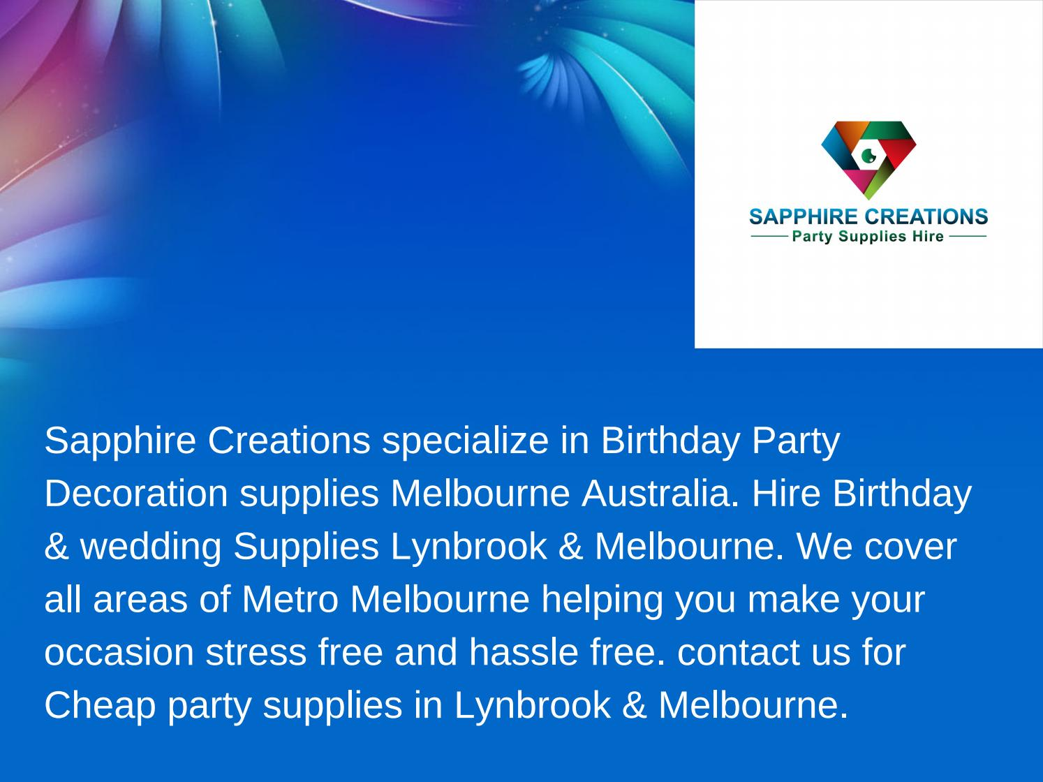 Party supplies melbourne by sapphire creations issuu junglespirit Images