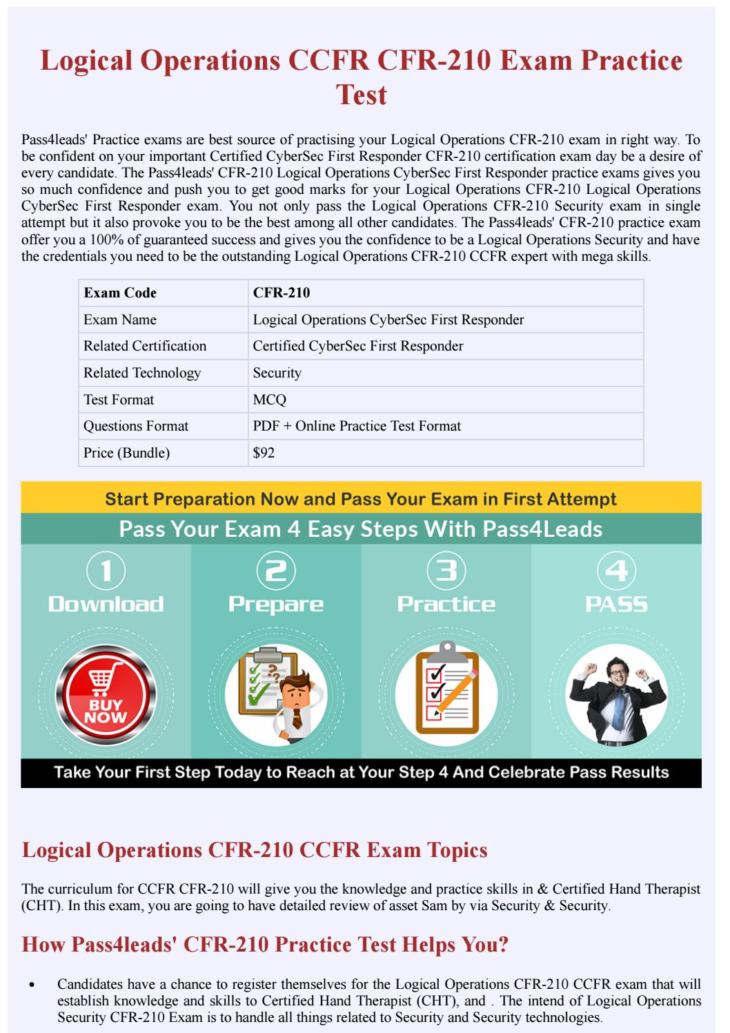 Logical Operations Ccfr Cfr 210 Exam Practice Material By Rich