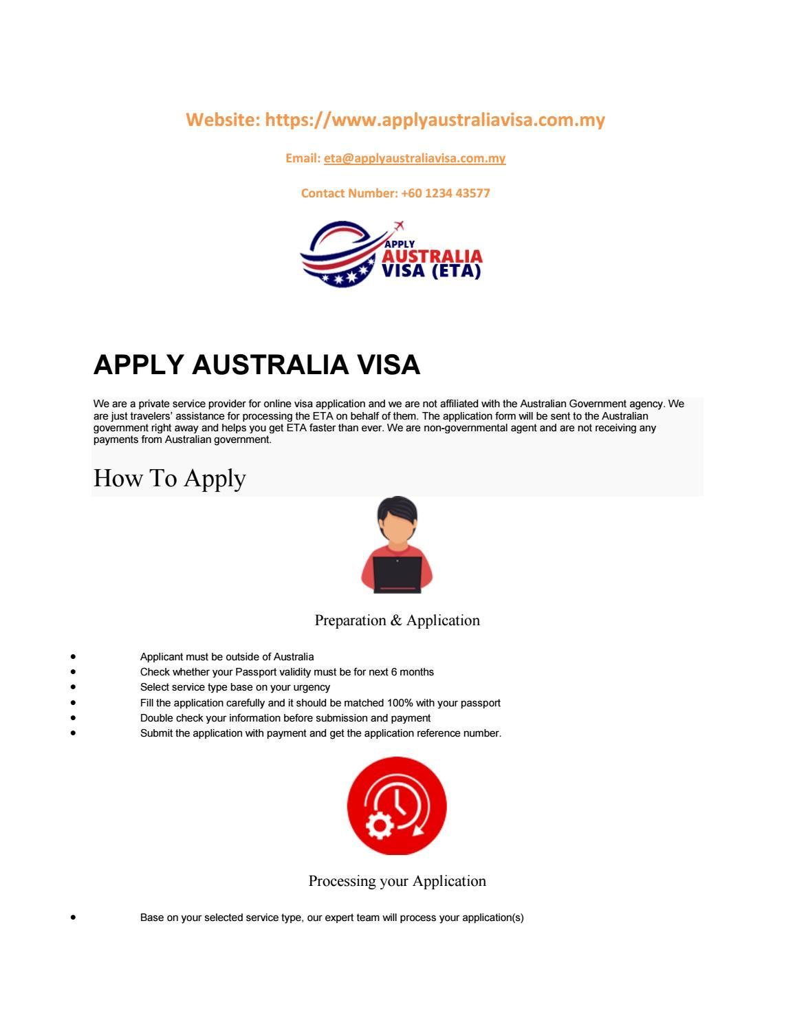 Australia visa apply Malaysia | Australia visa eta Malaysia