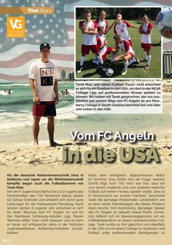 Page 18 of Tarek Malz: Vom FC Angeln in die USA