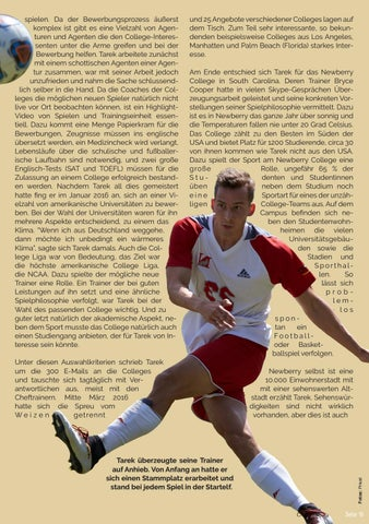 Page 19 of Tarek Malz: Vom FC Angeln in die USA