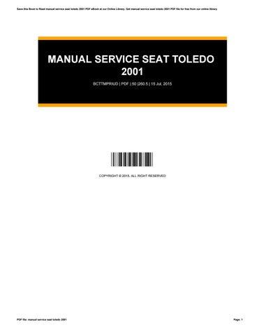 repair manual seat toledo 2001