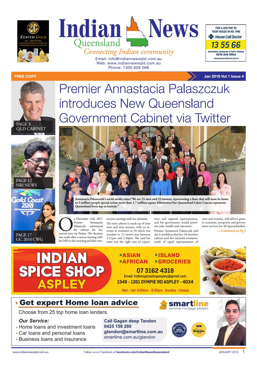 Indian News Queensland – Jan 2018 Vol 1 Issue 4 by Indian News Queensland -  issuu
