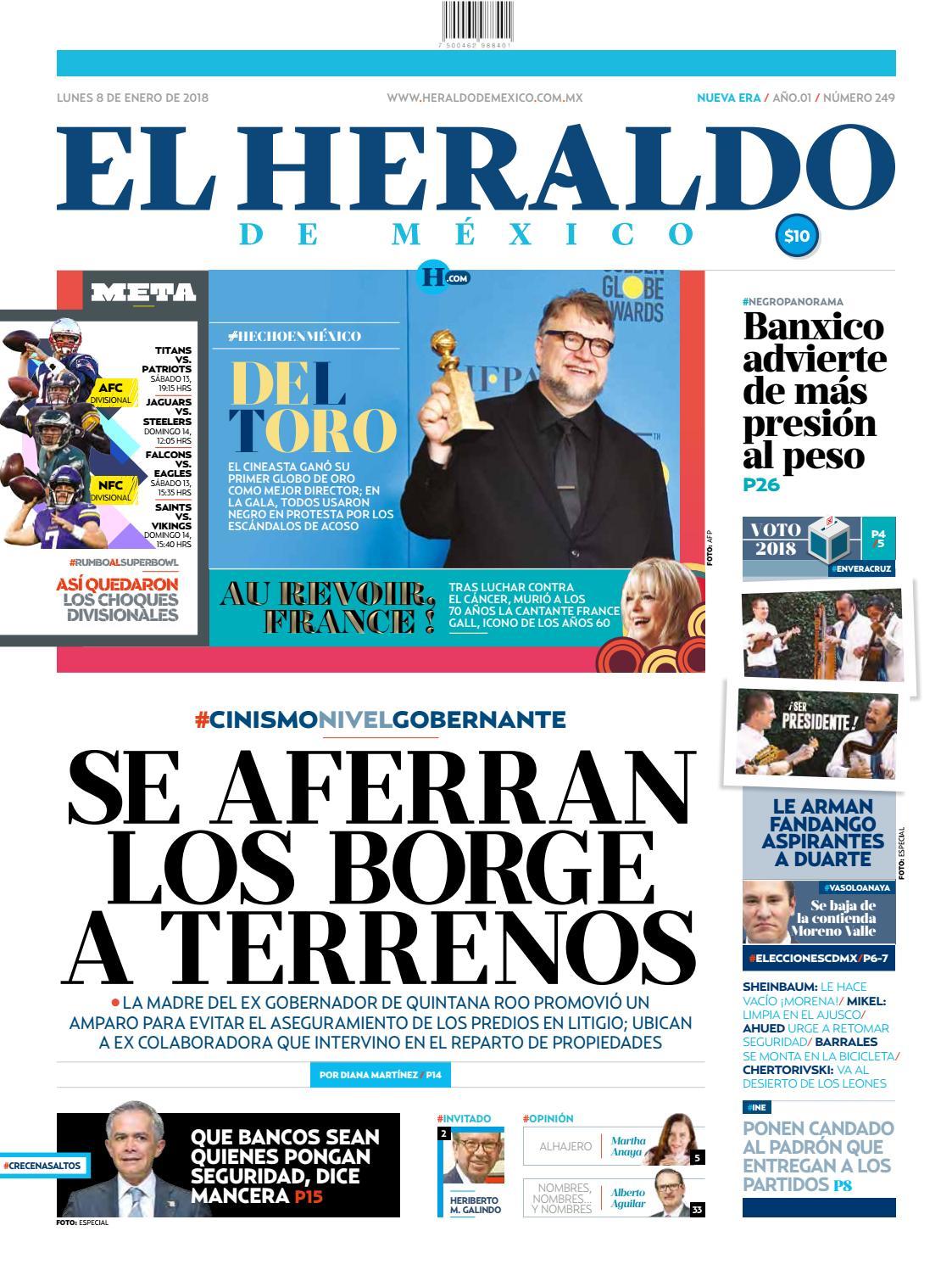 c90f8c7ce0945 El Heraldo de México 08 de enero del 2018 by El Heraldo de México - issuu