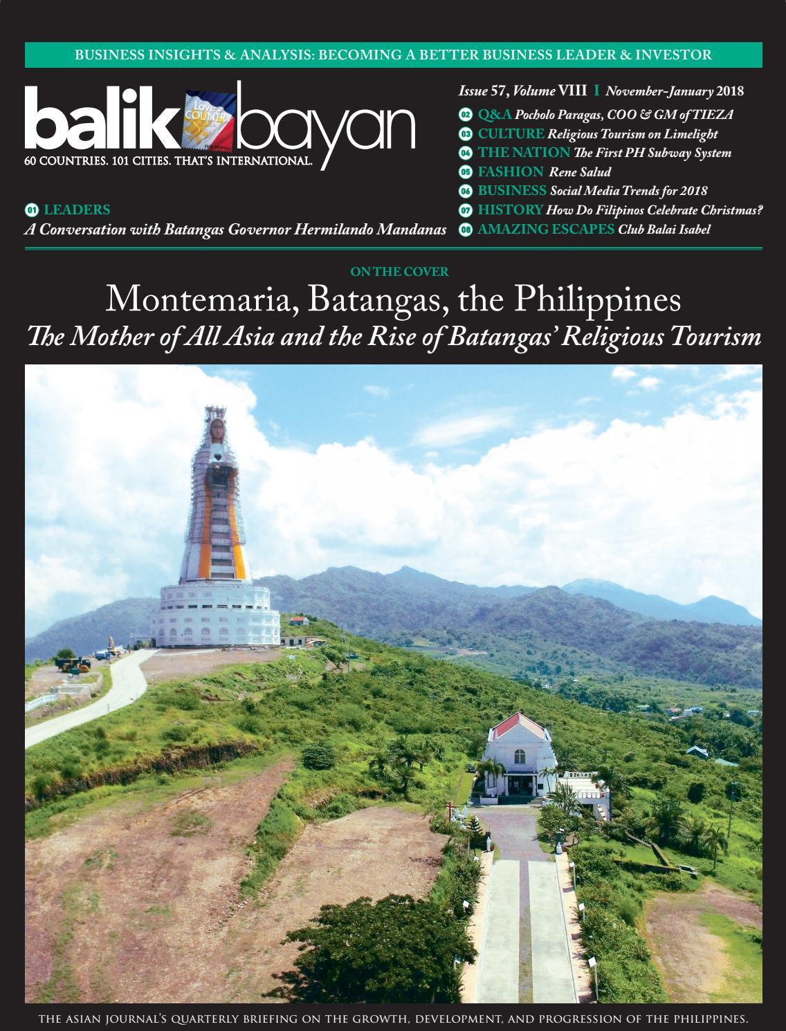 November 2017 January 2018 Balikbayan Magazine By