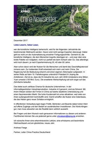 KPMG China Newsletter Dezember 2017 by KPMG.DE - issuu
