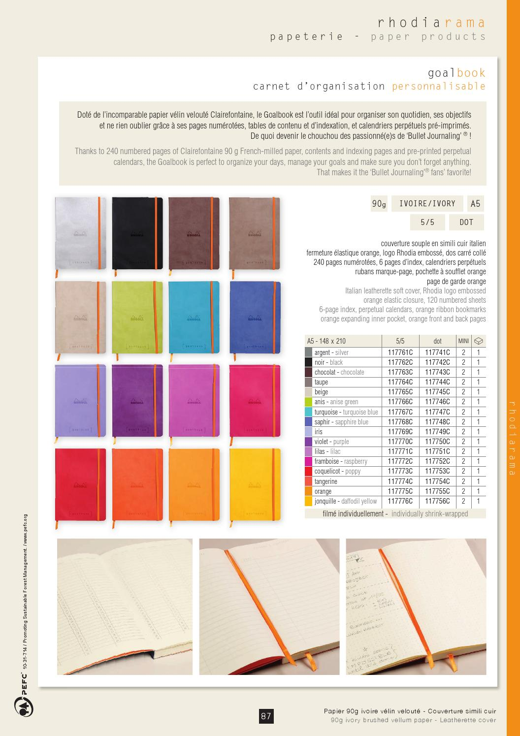Catalogue Rhodia 2018 By Clairefontaine Rhodia Issuu