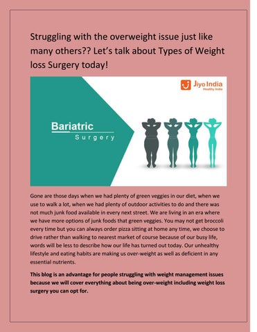 Types of Weight loss Surgery by jiyoindiahealth - issuu