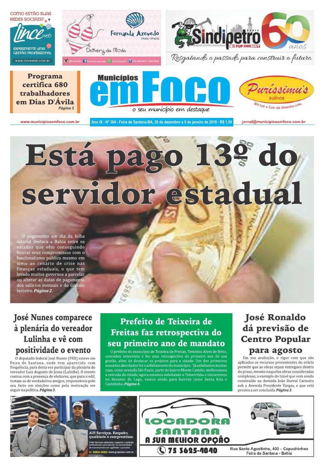 e23d01b08 Jornal municípios em foco edição nº 384 by Jornal Municípios em Foco - issuu