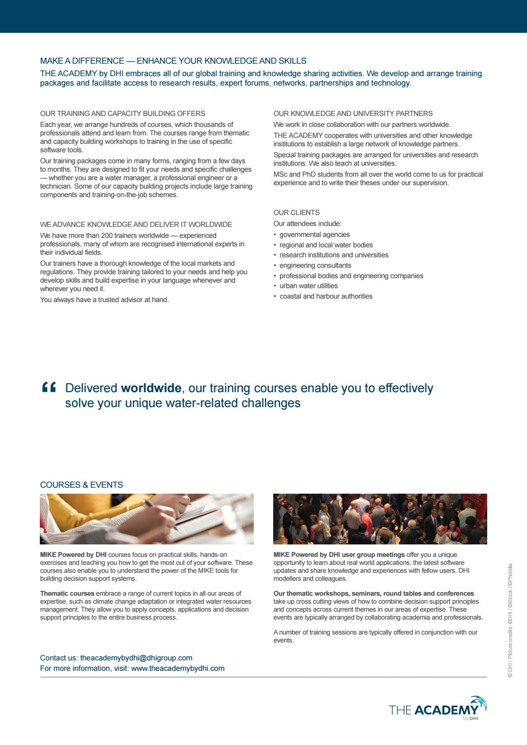 Urban Water courses from THE ACADEMY by DHI by DHI - issuu