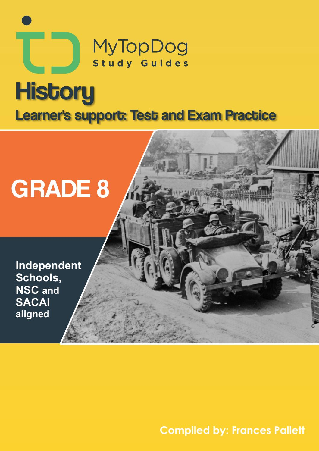 History Grade 8 Test and Exam Practice by Top Dog Education