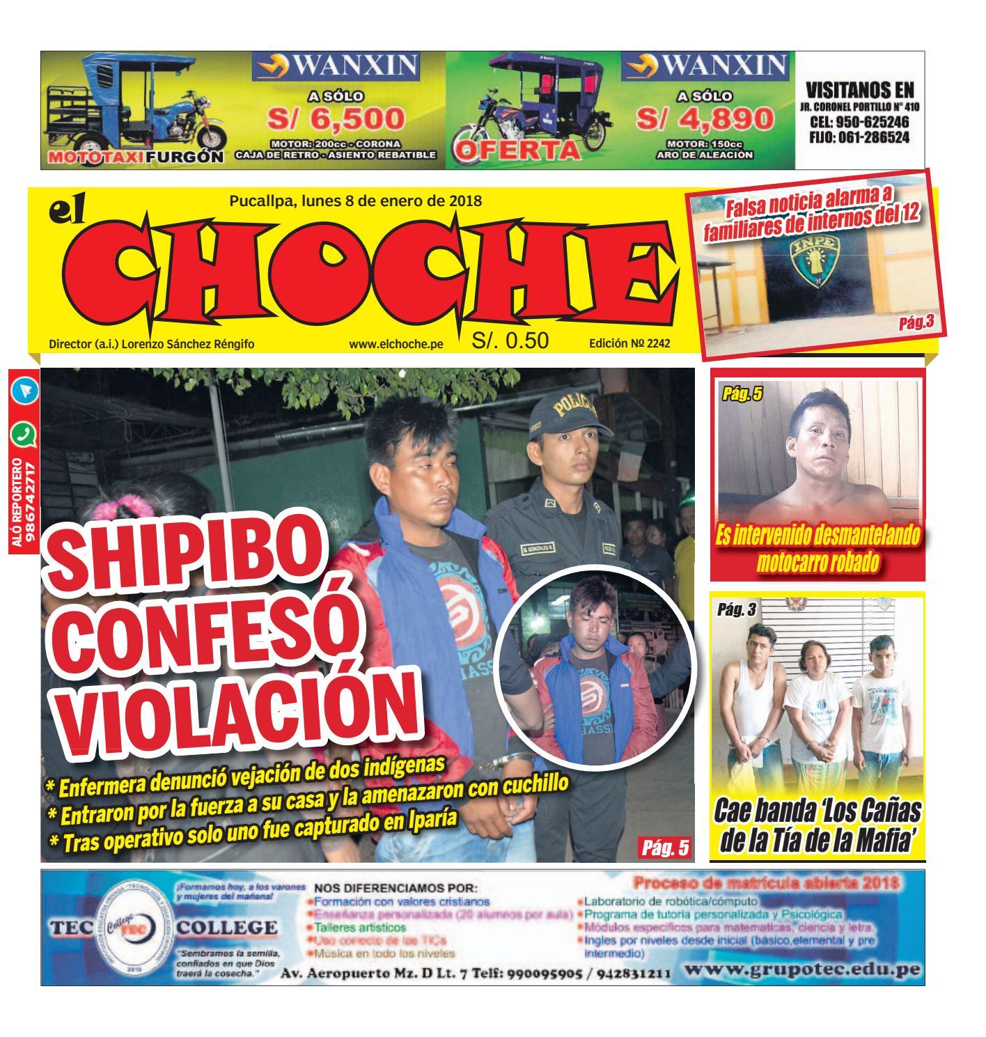 c58d6ea2d638 El choche 08 de enero del 2018 by Diario El Choche - issuu