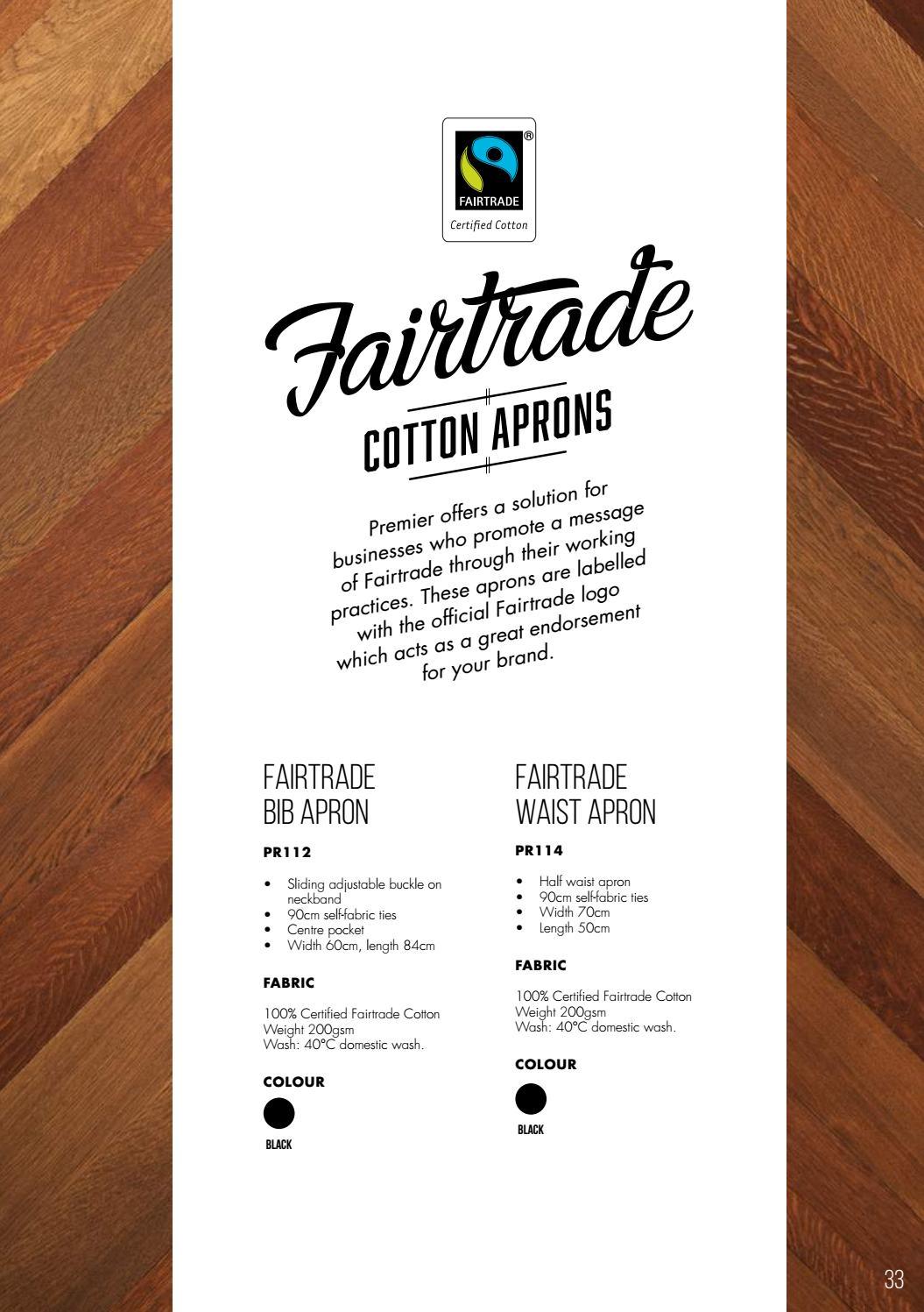 Premier 100/% Cotton Fairtrade Apron