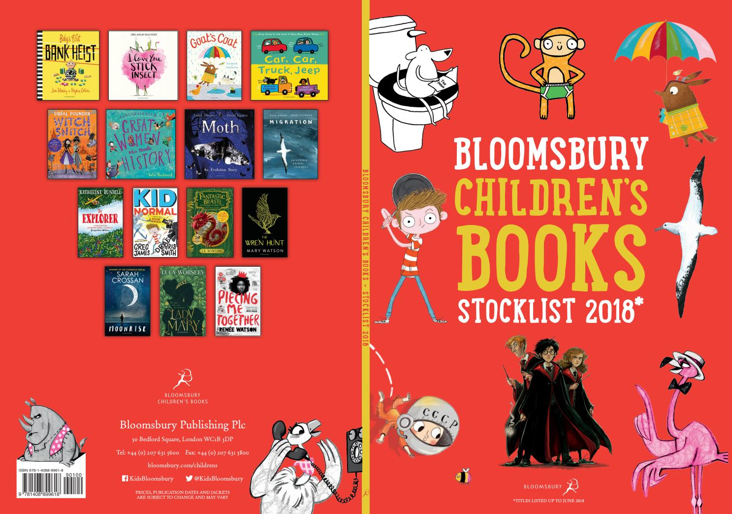 Bloomsbury Childrens Books Stockist 2018 By Publishing