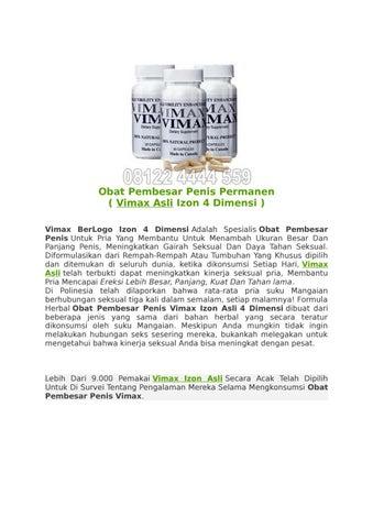 vimax asli izon 4 dimensi obat pembesar penis permanen di