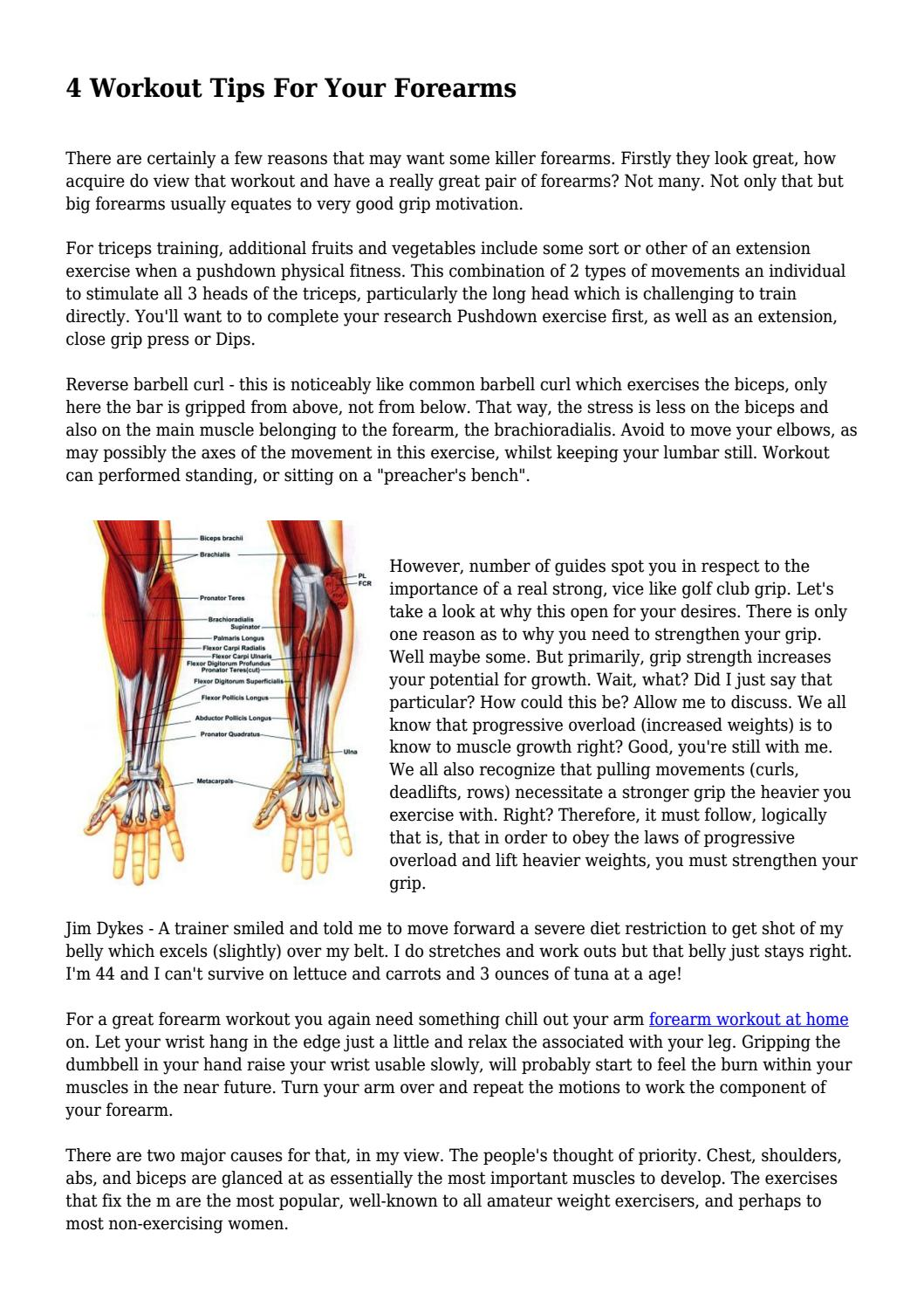 4 Workout Tips For Your Forearms By Skylifestylemedia Issuu
