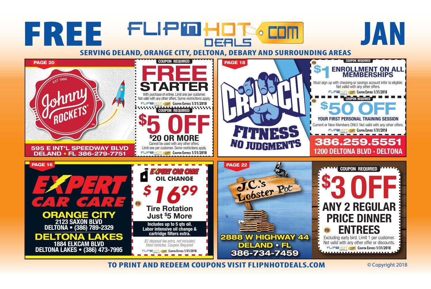 flip'nhot deals coupon book deland january 2018 - deland