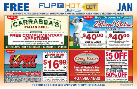 Flip'nHot Deals Coupon Book September 2018 - South Seminole