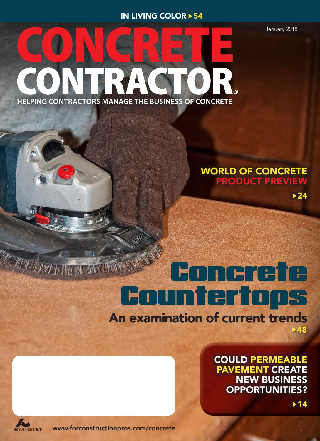 Concrete Contractor January 2018