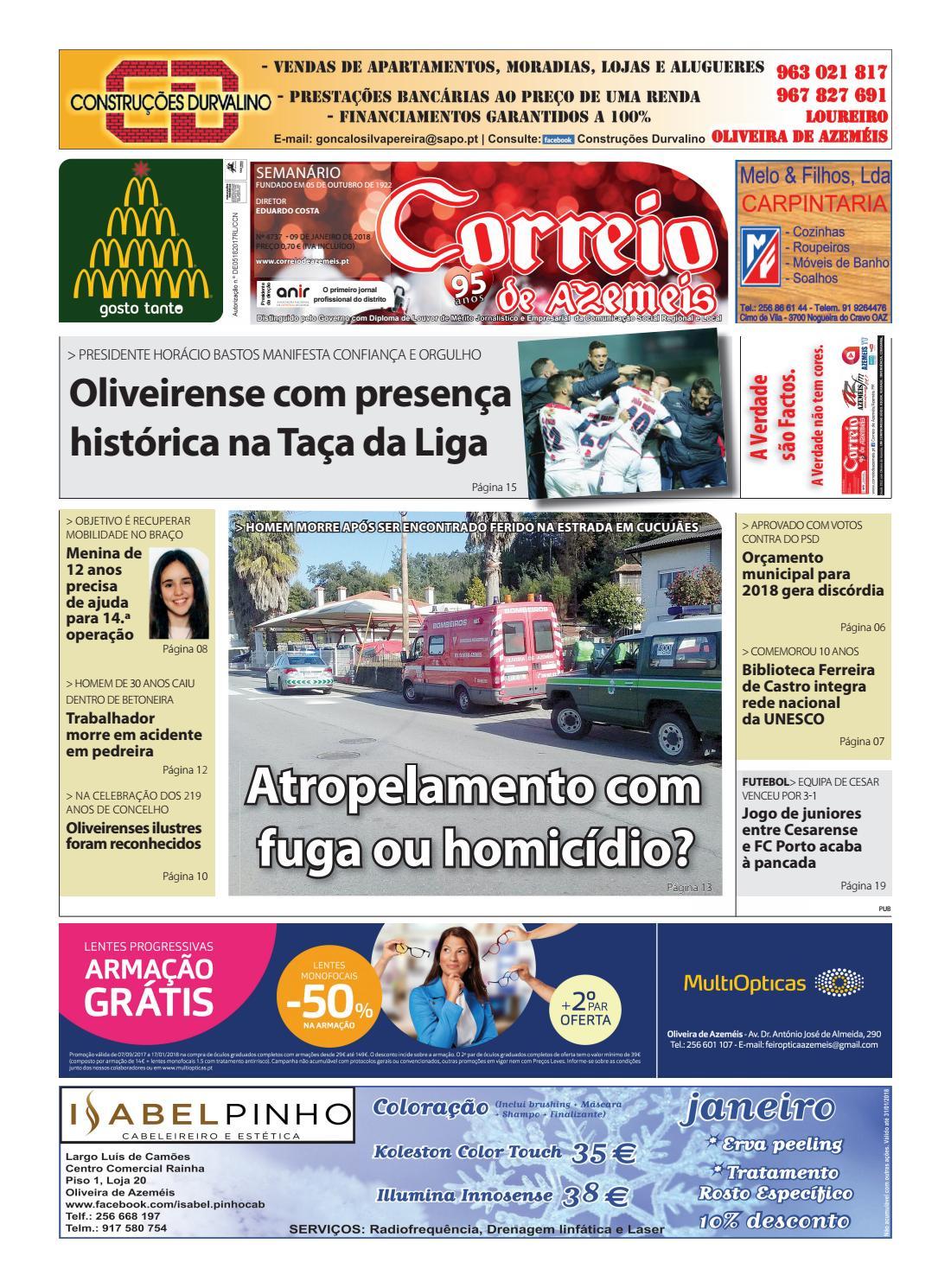 9 01 2018 by Correio de Azeméis - issuu 3e8711b4a07b2
