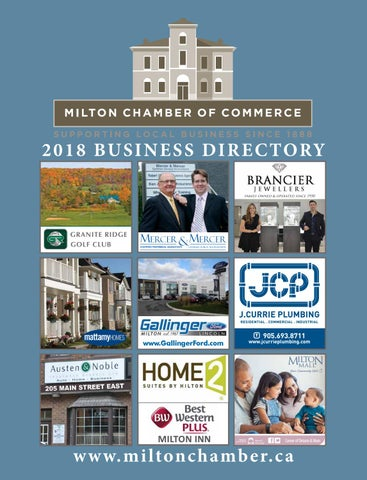 Milton Chamber 2018 Business Directory by Milton Chamber of Commerce