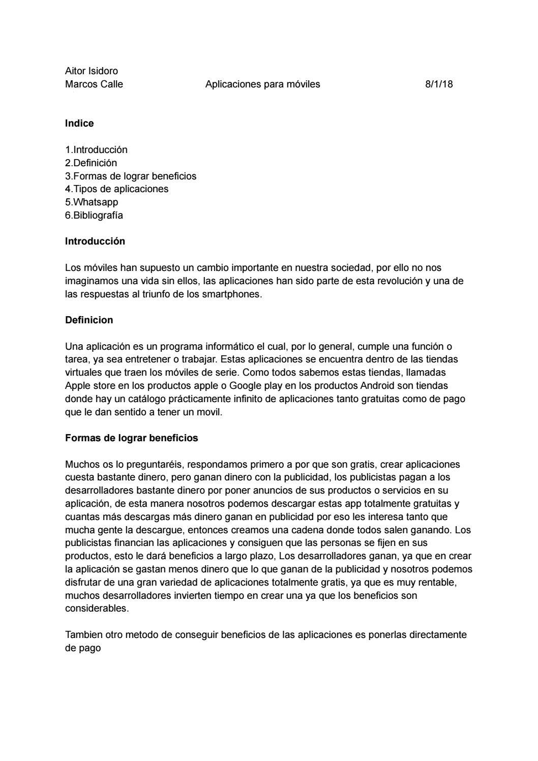Aplicaciones para moviles, aitor i y marcos by aito1516 - issuu