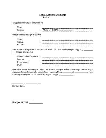 Contoh Surat Keterangan Rekening Bank Kumpulan Ilmu Dan