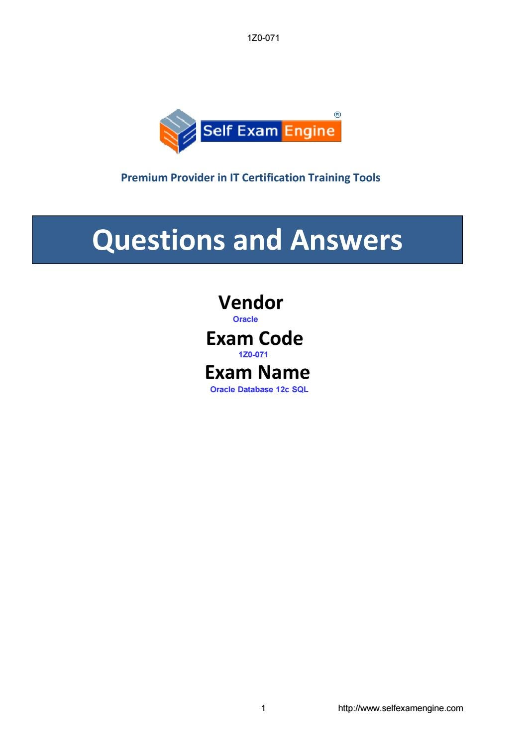 Exam 1z0 071 oracle database 12c sql by issuu 1betcityfo Image collections