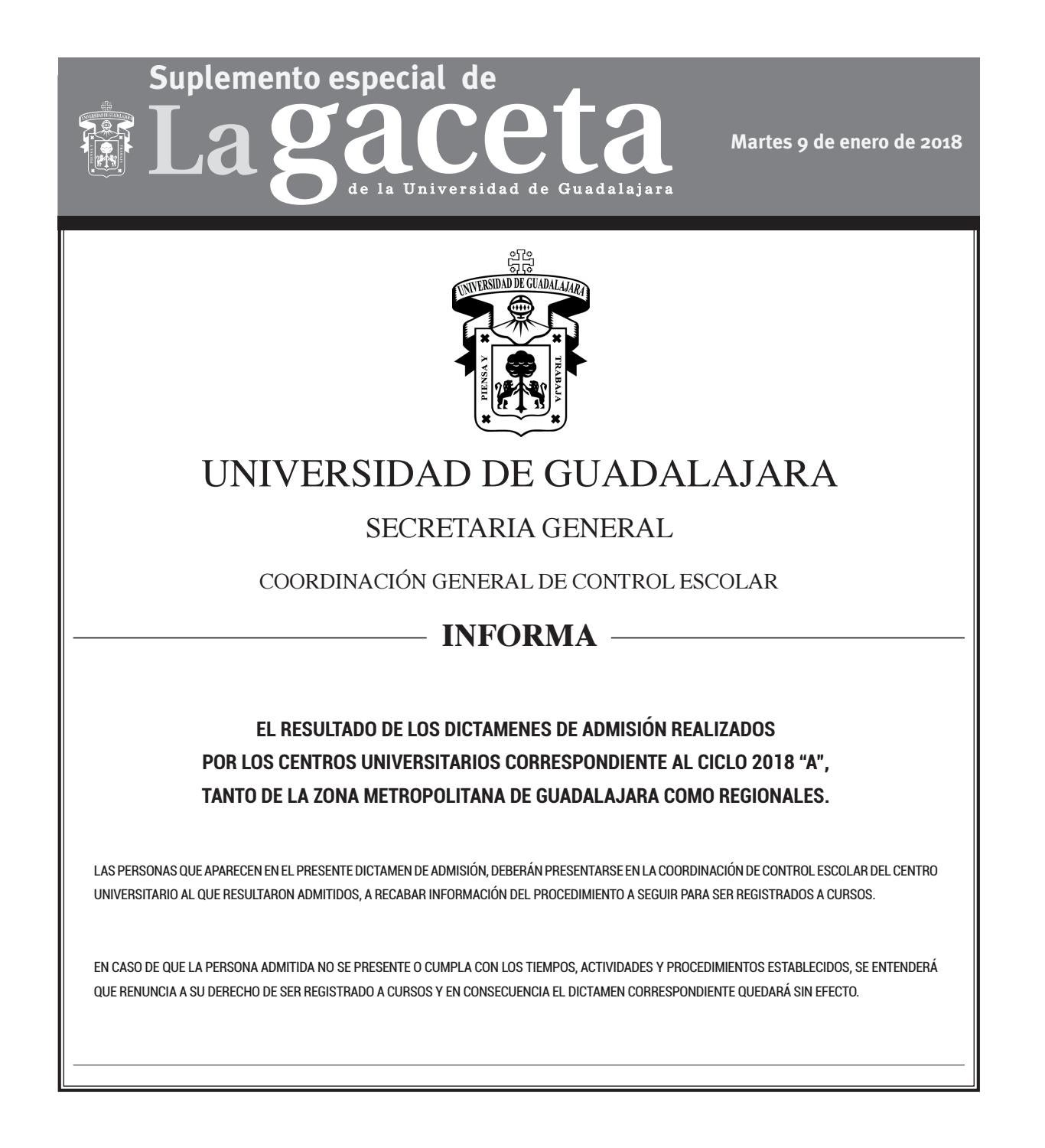be23b99d5 Dictamen 2018a by Universidad de Guadalajara - issuu