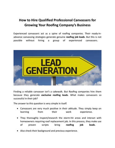 How To Hire Qualified Professional Canvassers For Growing