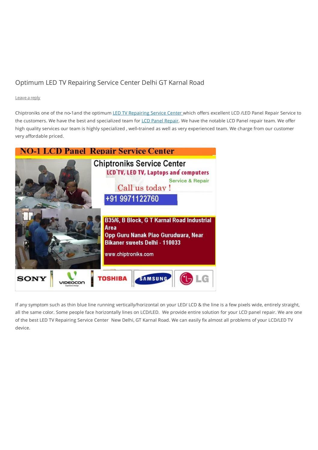 Brilliant LED TV Repairing Service Center GT Karnal Road Delhi by