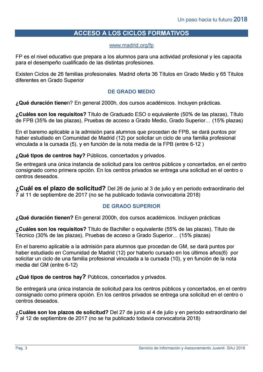 Fp Y Acceso A Empleo 2018 Actualizado By Getafe Joven Issuu