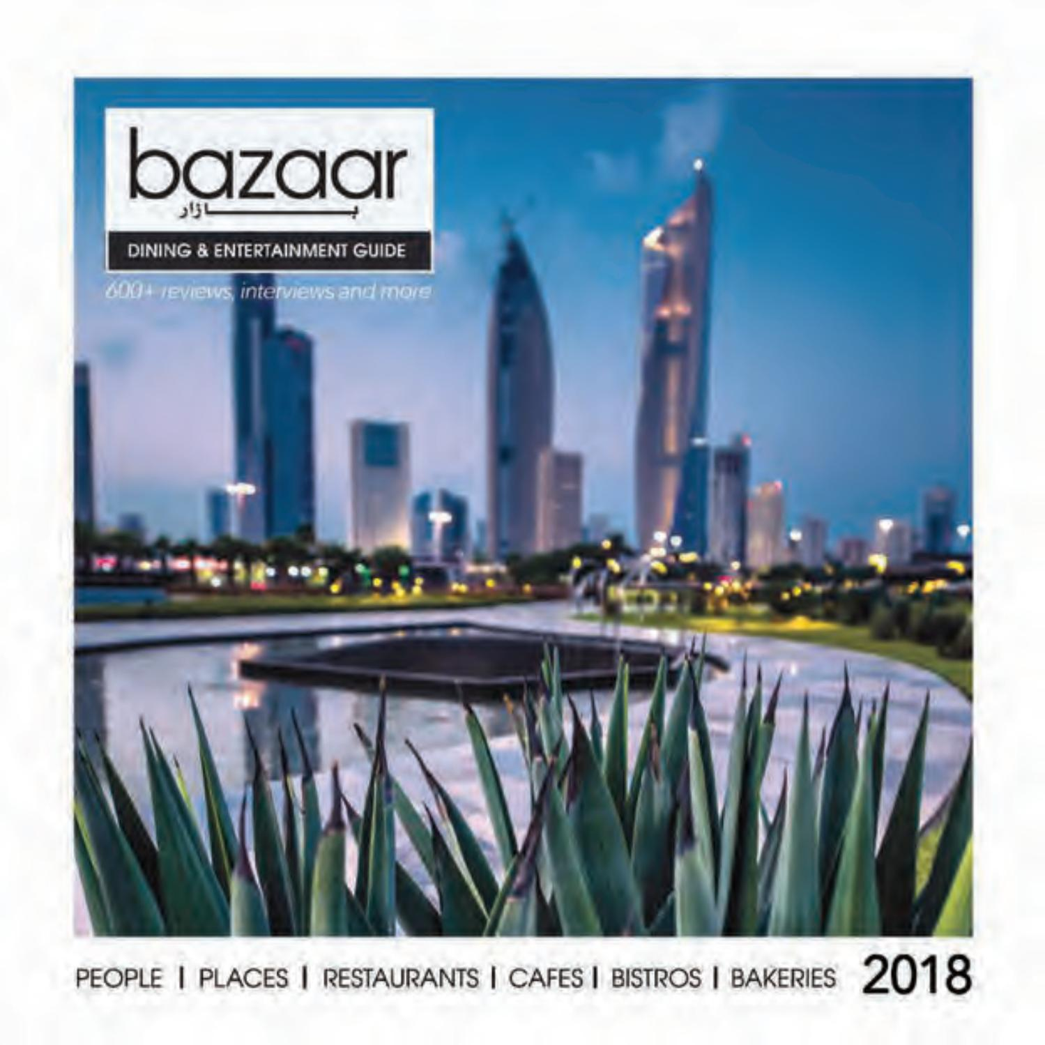 Bazaar Dining Entertainment Guide 2018 By Magazine Issuu Ombre Gray To Black Circuit Board Nerd Geek Round Clock
