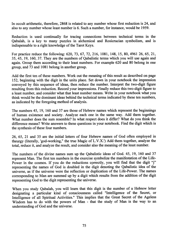 Paul Foster Case Occult Fundamentals Spiritual Unfoldment Volume 1