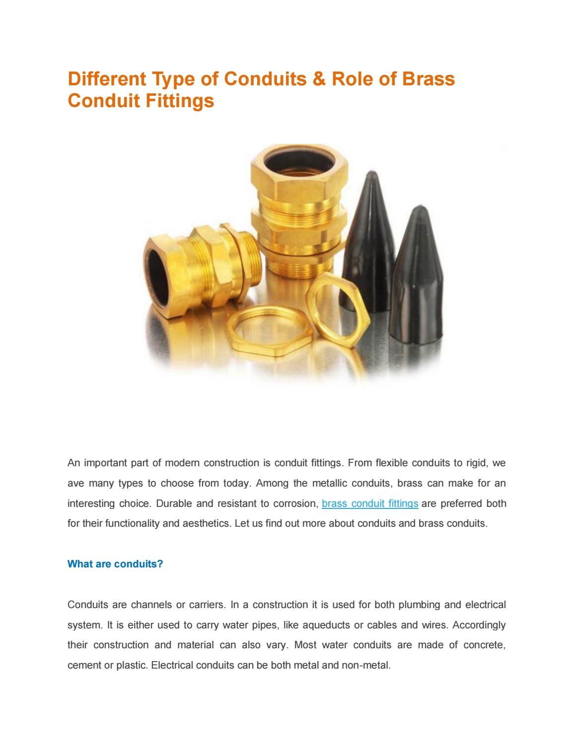 Different Type Of Conduits Role Brass Conduit Fittings By Electrical Pictures Pallega Issuu