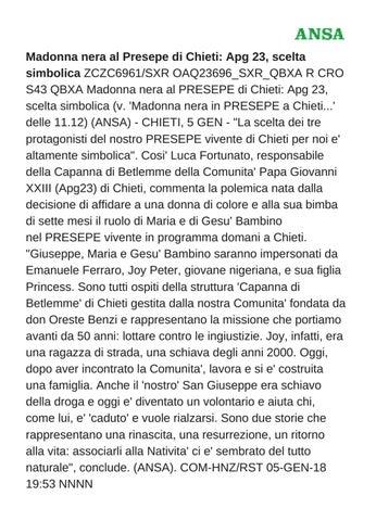 91db70d1ee Madonna nera al Presepe di Chieti: Apg 23, scelta simbolica ZCZC6961/SXR  OAQ23696_SXR_QBXA R CRO S43 QBXA Madonna nera al PRESEPE di Chieti: Apg 23,  ...