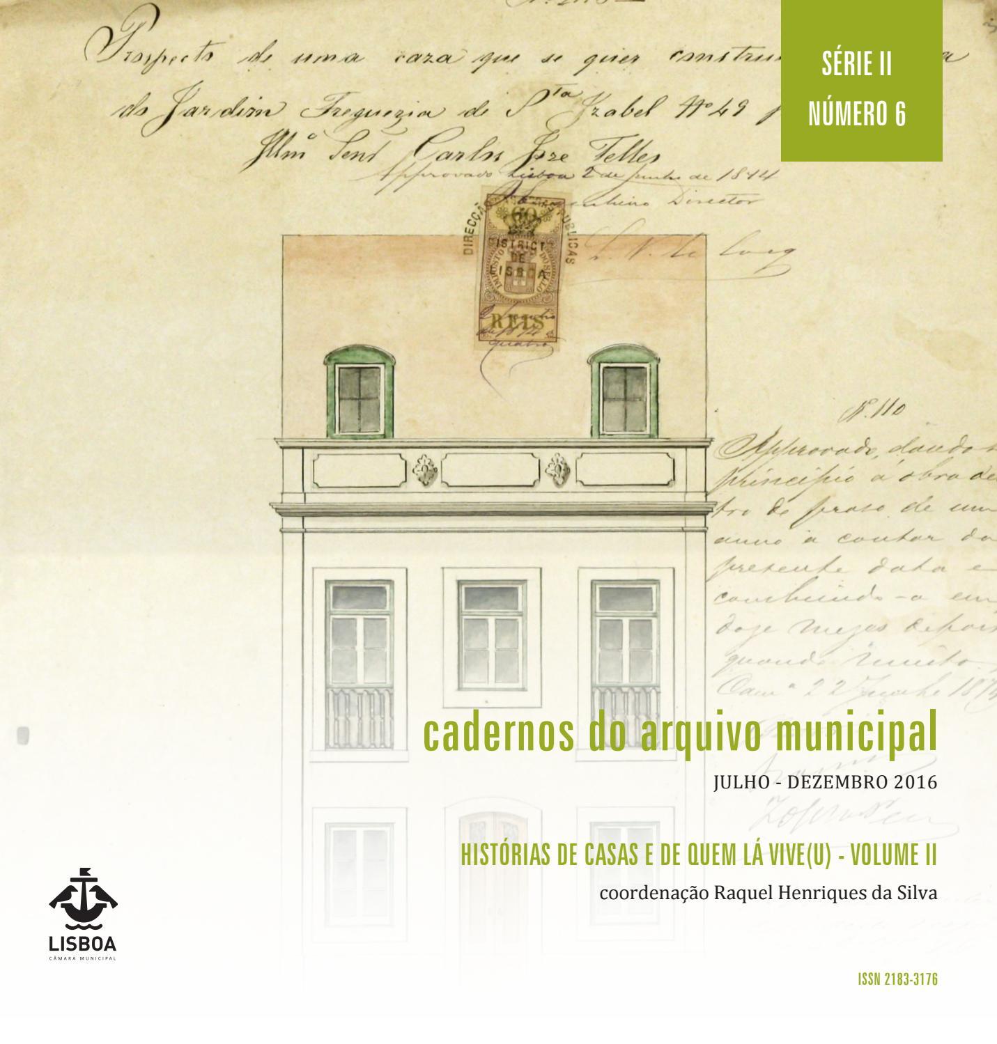 Cadernos do Arquivo Municipal, Série II nº 6 – Histórias de casas e de quem  lá vive(u) I by Câmara Municipal de Lisboa - issuu 36cdcd8ec4