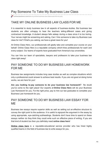 Essay Com In English  Gender Equality Essay Paper also English Essays Book Onlineclasshero Com Pay Someone To Take My Business Law  College Essay Thesis