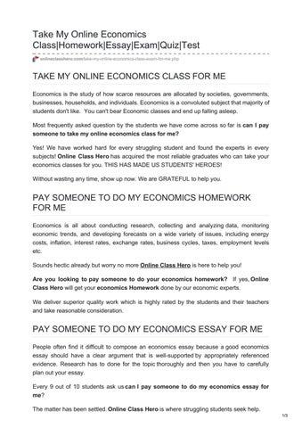 do my economics homework