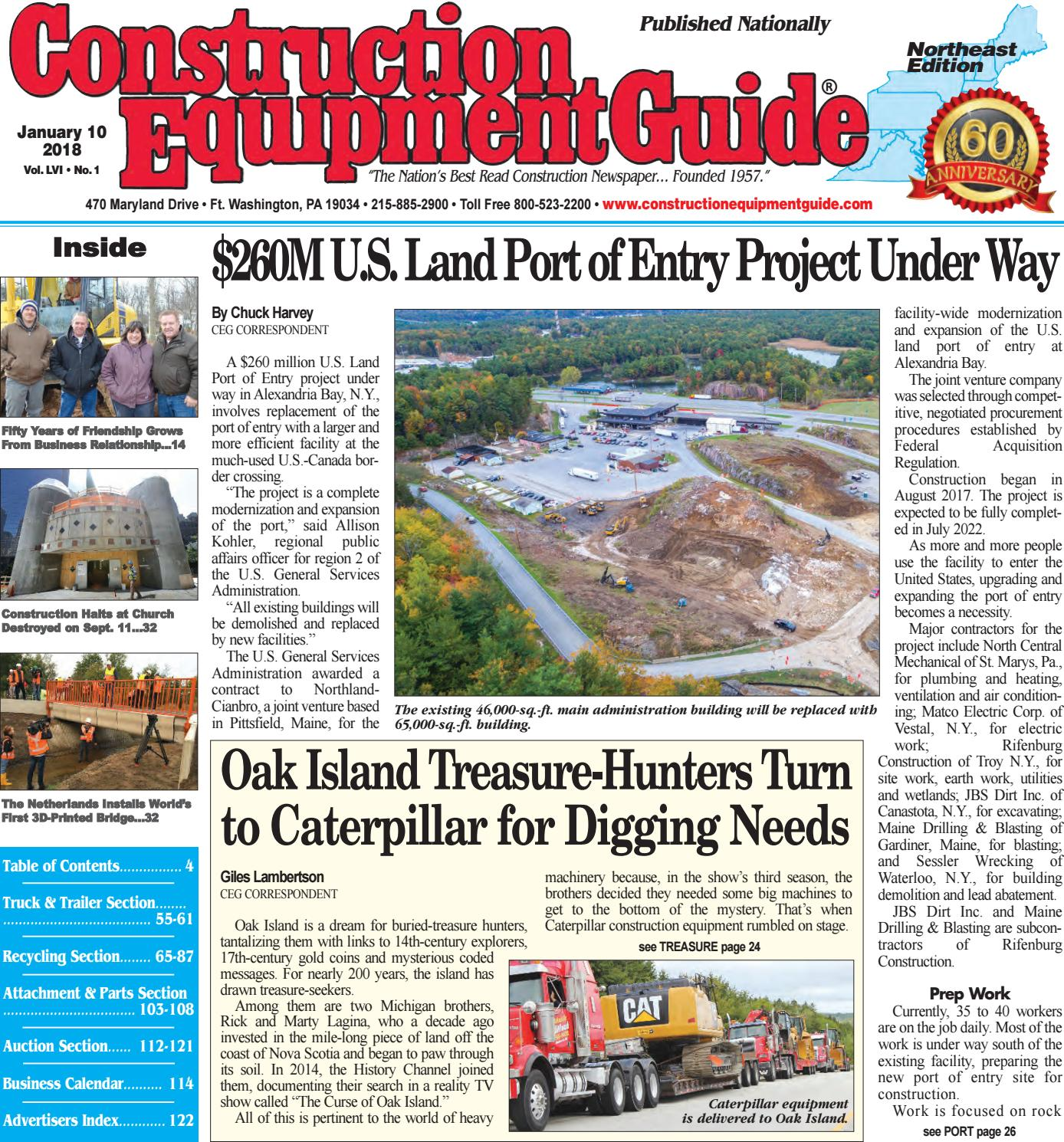 Northeast 1 January 10 2018 by Construction Equipment Guide issuu