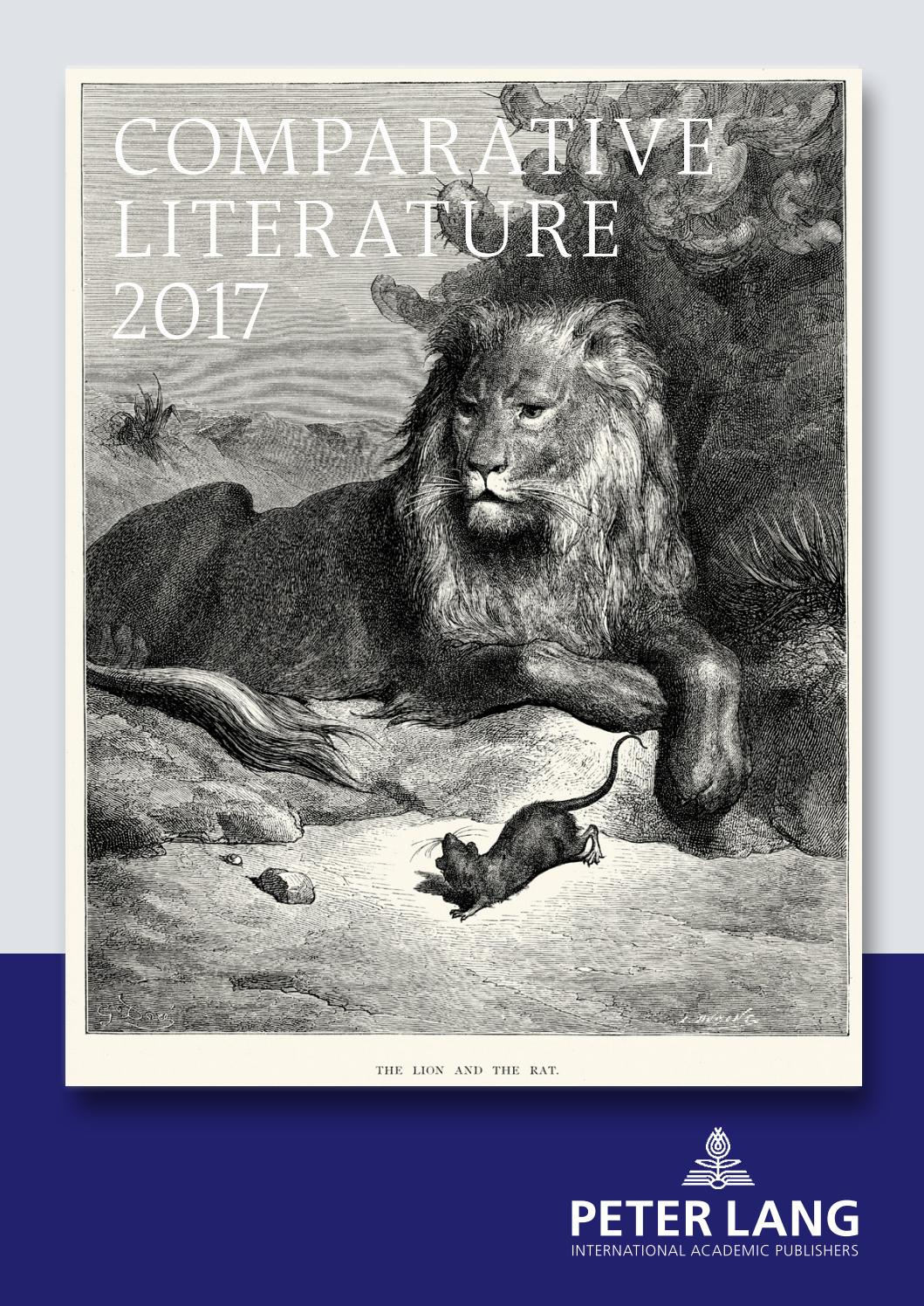 Comparative Literature Catalogue 2017 By Peter Lang