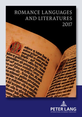 Romance Language And Literatures Catalogue 2017 By Peter
