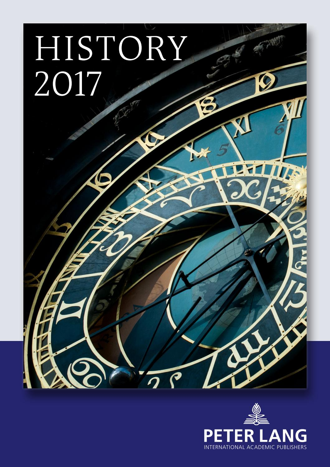 History Catalogue 2017 By Peter Lang Publishing Group Issuu
