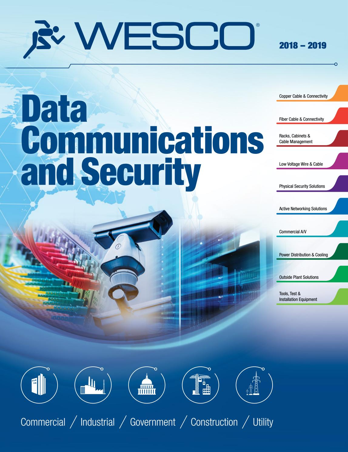 2018 Data Communications and Security Catalog by WESCO Distribution ...
